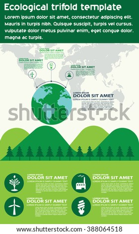 Ecological infography with the earth.