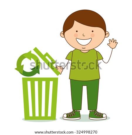ecological kids design, vector illustration eps10 graphic  - stock vector
