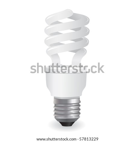 ecological light bulb icon in vector format - stock vector