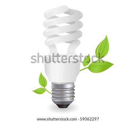 ecological lightbulbs icon in vector format - stock vector