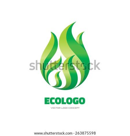 Ecologo - vector logo concept illustration. Leaf logo. Leave logo. Nature logo. Vector logo template. Design element.  - stock vector