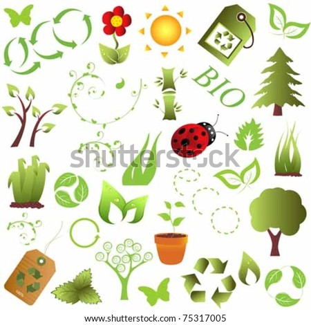 Ecology and clean environment objects