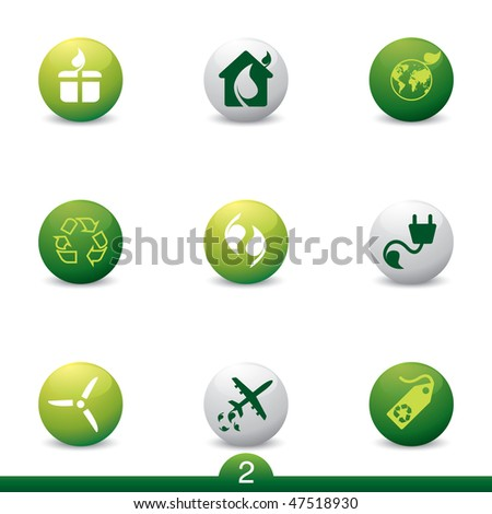Ecology and energy icon series 2 - stock vector