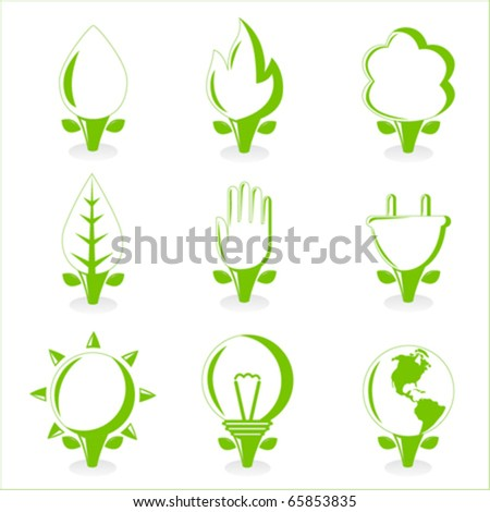 ecology and energy symbol - stock vector