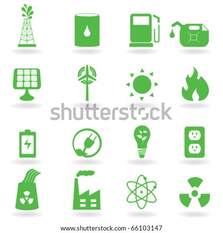Ecology and green environment related icons