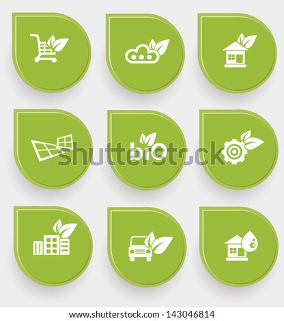 Ecology and natural symbol,vector - stock vector