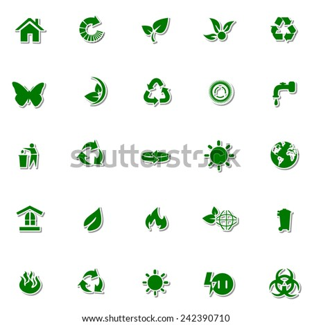 Ecology and Nature icon set 2 - stock vector