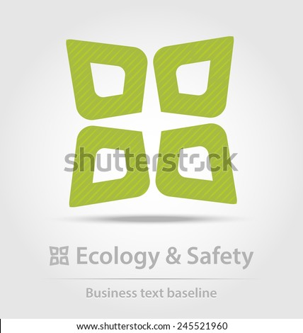 Ecology and safety business icon for creative design work - stock vector