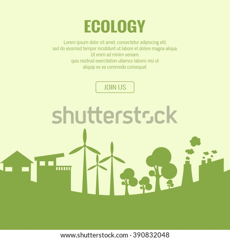 Ecology background , basic website page