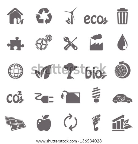Ecology basic icons - stock vector