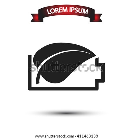 Ecology battery icon, Ecology battery pictograph, Ecology battery web icon, Ecology battery icon vector, Ecology battery icon eps, Ecology battery icon illustration, Ecology battery icon picture - stock vector