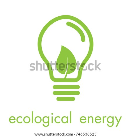 ecology bulb lamp leaf logo energy stock vector 746538523. Black Bedroom Furniture Sets. Home Design Ideas