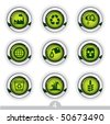 Ecology button series 4 - stock photo