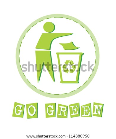 ecology card design. vector illustration - stock vector
