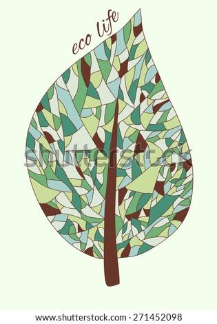 Ecology card design - vector illustration - stock vector
