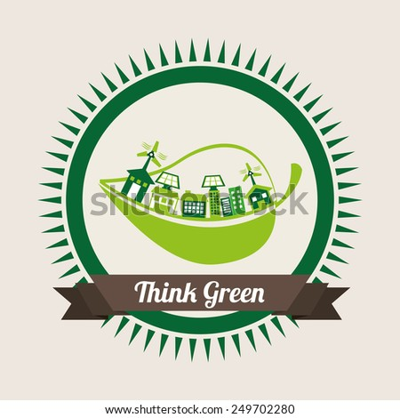 ecology concept  design, vector illustration eps10 graphic - stock vector