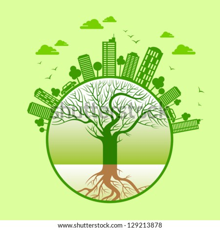 ecology concept - save earth - stock vector