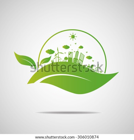 Ecology concept. save world - stock vector