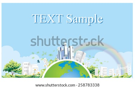 Ecology concept. save world vector-1