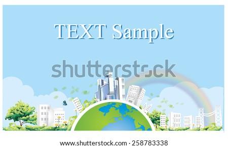 Ecology concept. save world vector-1 - stock vector