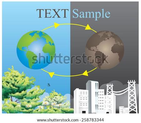 Ecology concept. save world vector-2 - stock vector