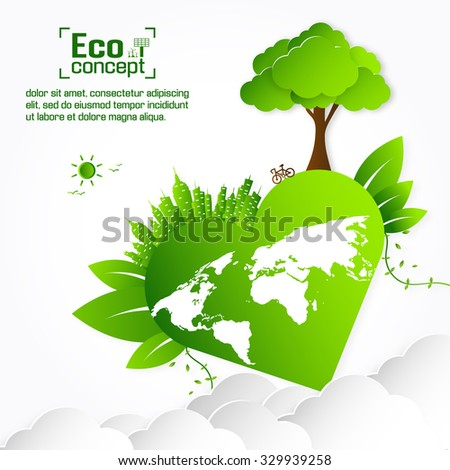 Ecology concept. save world vector illustration - stock vector