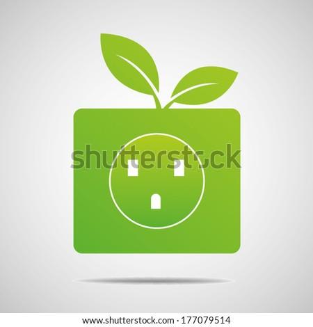 Ecology concept, vector  - stock vector