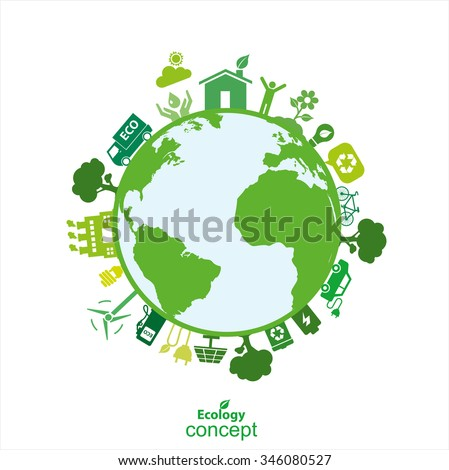 Ecology concept vector Background