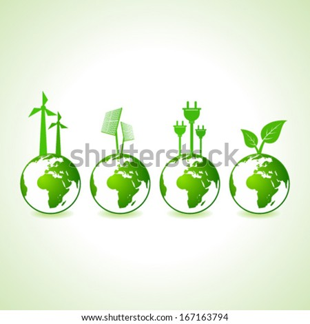 Ecology concept with earth stock vector - stock vector