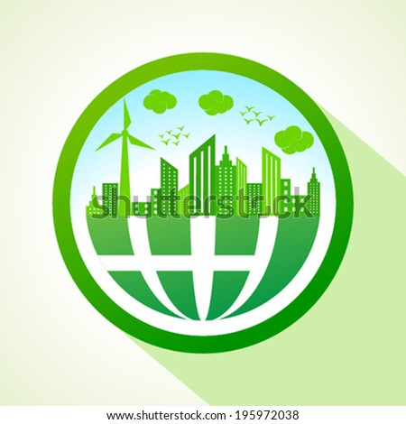 Ecology concept with earth- vector illustration  - stock vector