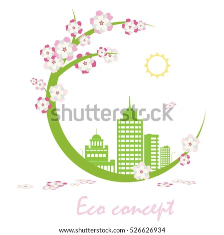 Ecology connection concept background.Vector infographic illustration background .