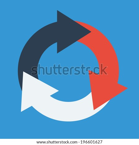 Ecology design over blue background, vector illustration