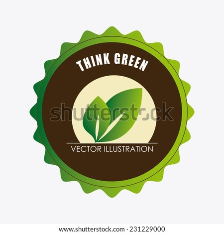 Ecology design over white background,vector illustration