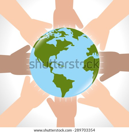 Ecology design over white background, vector illustration.