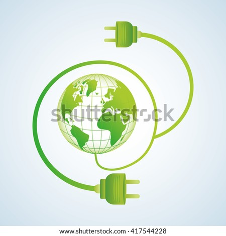 Ecology design. protection icon.  green concept. , vector illustration