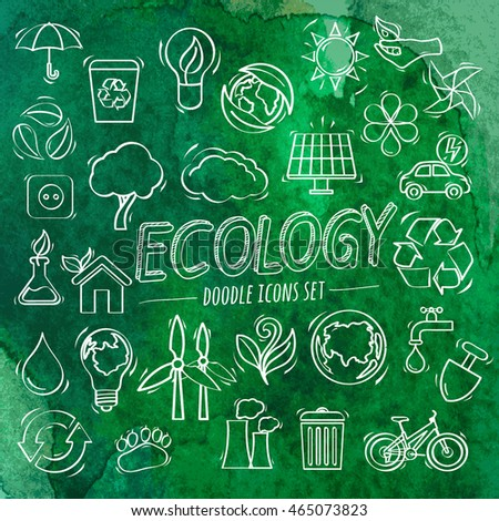 Ecology Doodle Icons