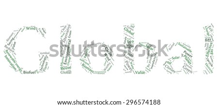 Ecology Earth concept word collage - stock vector
