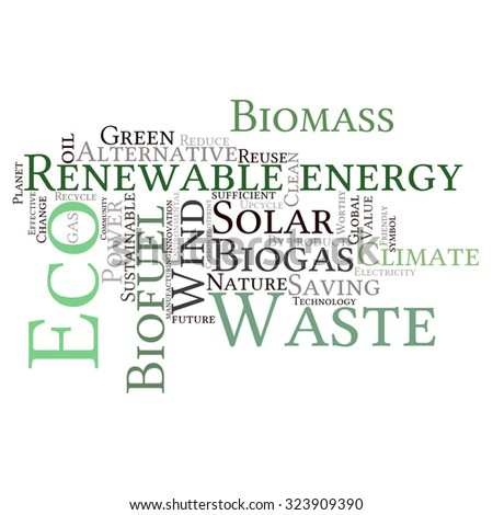 Ecology Earth Concept Word Collage Environmental Stock Vector ...