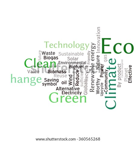 Ecology Earth concept word collage. Environmental poster design template  - stock vector