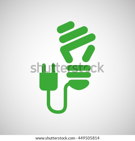 ecology eco nature protection bulb plug isolated, vector illustration - stock vector