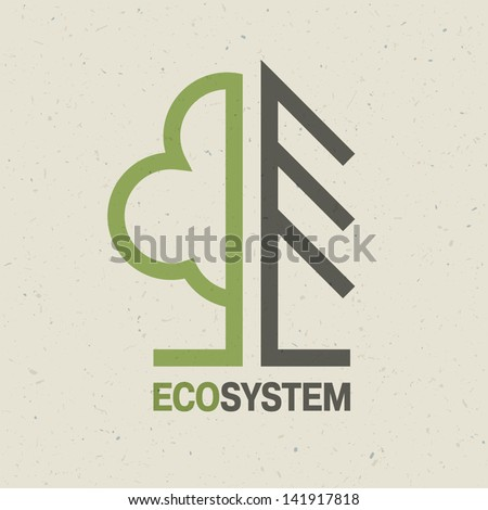 Ecology emblem concept, vector - stock vector