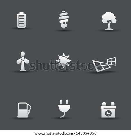 Ecology & Energy icons,vector