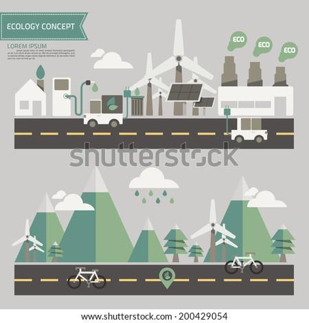 ecology environment concept vector - stock vector