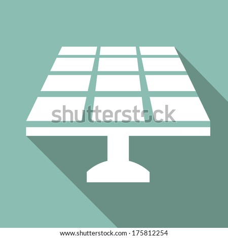 Ecology Flat Icon with shadow. Vector EPS 10. - stock vector