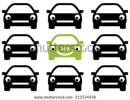 Ecology friendly car concept. Vector. - stock vector