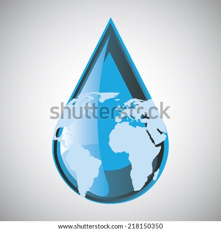 ecology graphic design , vector illustration - stock vector