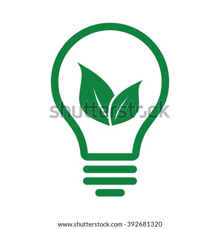 ecology green lamp tube leafs