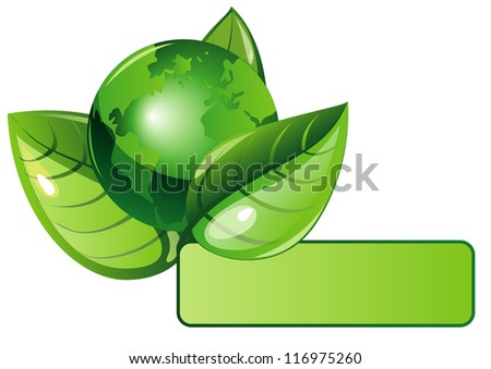 ecology green leaves background - stock vector