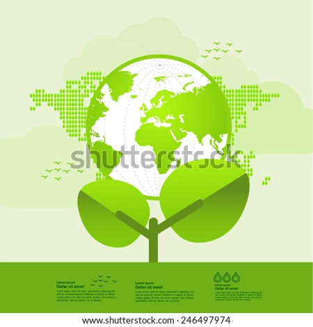 Ecology green plant of nature planet
