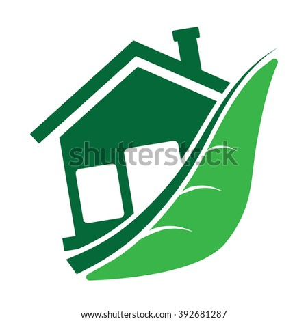 ecology home leaf icon